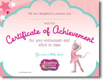Angelina Certificate